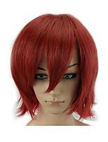 Парики из искусственных волос Без шапочки-основы Средний Прямые Темно-красный С чёлкой Парики для косплей Карнавальные парики