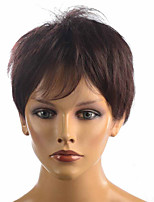 Short Synthetic Straight Wig Black Cos HairStyle Party Wig For Women