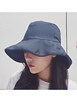 Women's Polyester Floppy Hat,Hat Solid Spring Fall
