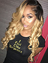 Top Quality Strawberry Blonde Ombre T1B/27 Glueless Lace Front Wigs With Baby Hair 100% Brazilian Virgin Hair Wigs for Black Woman