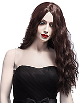 Charming Hairstyle Synthetic Hair Long Curly Wig Middle Part Puffy Brown Wigs For African American Women