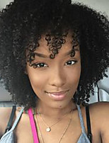 Black Short Synthetic Kinky Curly Hair Wig Heat Resistant Synthetic Women Wig