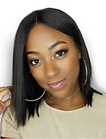 Straight Human Hair Bob Lace Front Wigs with Baby Hair Brazilian Remy Hair Short Hair Wig For Black Women