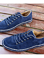 Men's Oxford Comfort Spring Fall Suede Casual Blue Brown Under 1in