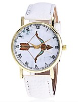 XU Neutral PU Belt Roman Numerals Bbows And Arrows Casual Wrist Watch