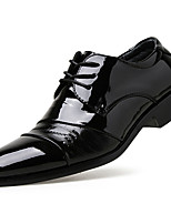 Men's Oxfords Formal Shoes PU Spring Fall Office & Career Party & Evening Formal Shoes  Flat Heel Black 1in-1 3/4in