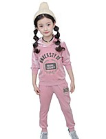 Girls' Embroidered Sets,Cotton Spring Fall Long Sleeve Clothing Set