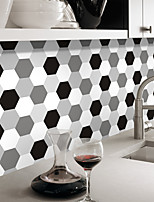 Hexagon Ceramic Tile Plaster Wall Stickers The Living Room Bedroom Self-Adhesive Waterproof PVC Film