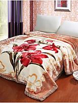 Flannel Floral Cotton Blankets