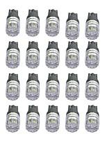 1w высокая мощность t10 1led алмазное зеркало автомобиля светло-белый / желтый / зеленый / ледяной свет dc12v 20шт