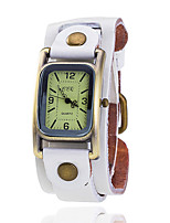XU Women's Vintage Wrist Watch Leather Belt Casual Rectangular Dial Bracelet Watch