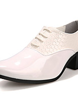Men's Oxfords Formal Shoes Patent Leather Spring Summer Fall Winter Casual Office & Career Party & Evening Black White 1in-1 3/4in