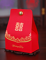 100 1 Favor Holder-Pyramid Card Paper Pearl Paper Favor Boxes Gift Boxes