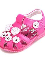 Girls' Sandals Comfort Summer Leatherette Casual White Fuchsia Blushing Pink Flat