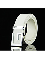 Men's fashion smooth belt buckle. Casual words motherboard buckle belts