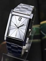 Муж. Жен. Модные часы Кварцевый сплав Группа Серебристый металл
