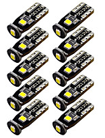 10 PCS T10 3030 3SMD LED 3W for Car Interior Dome Map Door Lights License Plate Lights Reading Lights White