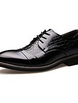Для мужчин Туфли на шнуровке Удобная обувь Формальная обувь Кожа Весна Лето Осень Зима Свадьба Для вечеринки / ужина ШнуровкаНа низком