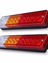 Ziqiao 2pcs 12v водонепроницаемый 20leds atv прицеп грузовик вел задний фонарь фонарь яхта автомобиль-трейлер задние фонари заднего хода