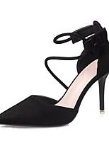 Mujer Sandalias Innovador Tejido Verano Fiesta y Noche Vestido Hebilla Tacón Stiletto Negro Gris claro Rosa claro Caqui 10 - 12 cms