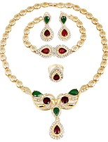 Women's Necklace Fashion Rhinestone Gold Plated Alloy For Wedding Party Gift Office & Career Valentine Wedding Gifts