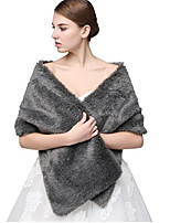 Women's Faux Fur Acrylic Rectangle Solid Fall Winter