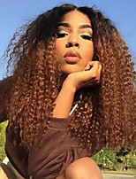 Black Dark Root To Blond Ombre Hair Women Wigs Kinky Curly Heat Resistant Synthetic Black Women Wig