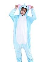 Kigurumi Pijamas Elefante Festival/Celebração Pijamas Animais Dia das Bruxas Fashion Bordado Flanela Fantasias de Cosplay Kigurumi Para