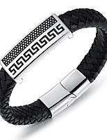 Homens Pulseira Personalizado Hip-Hop Confeccionada à Mão Estilo simples Moda Aço Titânio Formato Circular Forma Geométrica Jóias Jóias