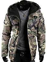 Men's Fashion Casual Camouflage Hooded Cotton Jacket