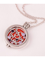 Women's Pendant Necklaces Rhinestone Locket Alloy Fashion Jewelry For Wedding Party Birthday Graduation Gift Daily