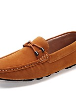 Men's Loafers & Slip-Ons Moccasin Suede Fall Winter Casual Party & Evening Light Brown Blue Flat