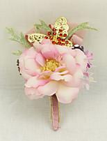 Свадебные цветы Бутоньерки Свадебное белье Для специальных случаев Металл Около 7 см