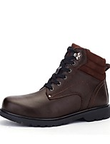Men's Boots Combat Boots Snow Boots Fashion Boots Winter Real Leather Cowhide Nappa Leather Casual Office & Career Outdoor Lace-up Flat