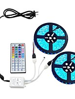 Kwbled light strip kit 5050 10m (2 * 5m) 600leds rgb 60leds / m avec 44key ir controller et 6a alimentation