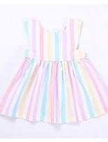 Girl's Striped Color Block Dress
