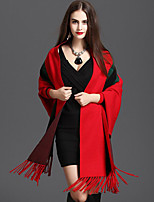 Women's Wrap Capes Knitwear Wedding Tassel(s)