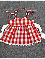 Girls' Stripe Color Block Sets,Others Summer Clothing Set
