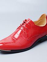 Для мужчин обувь Лакированная кожа Осень Зима Удобная обувь Оригинальная обувь Свадебная обувь Для прогулок Шнуровка Назначение Свадьба