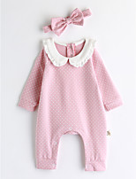 Baby Polka Dot One-Pieces,Cotton Spring/Fall Long Sleeve