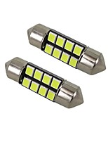1w blanc dc12v 36mm feston 8smd 2835 led lumière domotique Rreading Light plaque d'immatriculation 2pcs