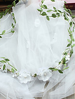 Wedding Veil One-tier Blusher Veils Cut Edge Tulle