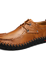 Men's Oxfords Comfort Nappa Leather Fall Winter Casual Outdoor Party & Evening Comfort Light Brown Black Under 1in