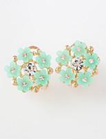 Earring Rhinestone Flower / Star Stud Earrings / Clip Earrings Jewelry Women Fashion / Adorable Daily / Casual