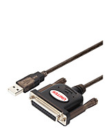 Unitek USB 2.0 Адаптер, USB 2.0 to DB25 Адаптер Male - Female 1.5M (5Ft)