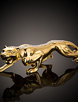 Diy ornements d'automobile argent léopard décoration intérieure créative décoration voiture pendentif&Ornements en métal