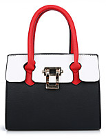 Women Bags All Seasons PU Tote with for Wedding Event/Party Casual Formal Office & Career Black Orange Red Blushing Pink Gray