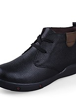 Men's Boot Fluff Lining Formal Shoe Comfort Snow Boot Bootie Winter Real Leather Cowhide Nappa Leather Casual Outdoor Office & Career