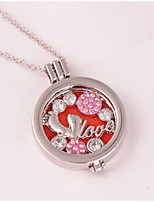 Women's Pendant Necklaces Rhinestone Locket Alloy Love Jewelry For Wedding Party Birthday Graduation Gift Daily