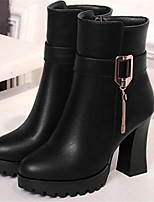 Women's Shoes PU Spring Fall Comfort Boots For Casual White Black